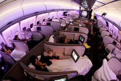 Дизайнеры создали новые кресла-кровати для самолётов