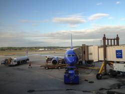 Американец, раздевшись, въехал на угнанном грузовике в пассажирский самолет