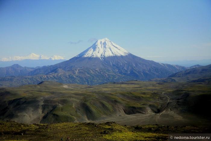 Камчатка. Тихоокеанское кольцо. Вулканы Горелый и Мутновский. Красочный яркий сентябрь
