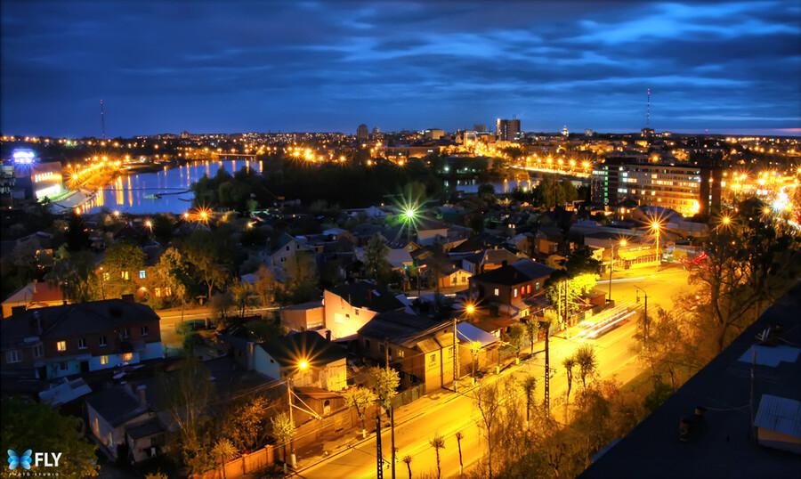 Украина - вид на южную часть винницы
