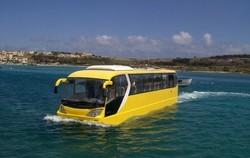 Автобус-амфибия приглашает на экскурсию по Роттердаму