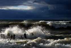Шторм на Балтийском море привел к отмене парома