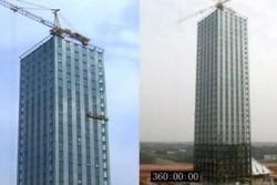 Китайцы за две недели  построили  30-этажную гостиницу