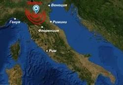 Неподалеку от Римини произошло землетрясение