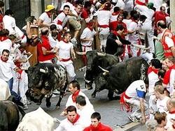 Во время традиционного испанского праздника пострадали два человека