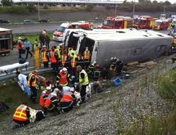 Во Франции разбился туристический автобус, есть жертвы