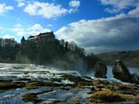 Швейцария. водопад на Рейне