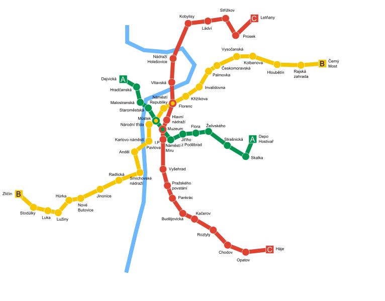 Карта метро Праги (81,52 Кб)
