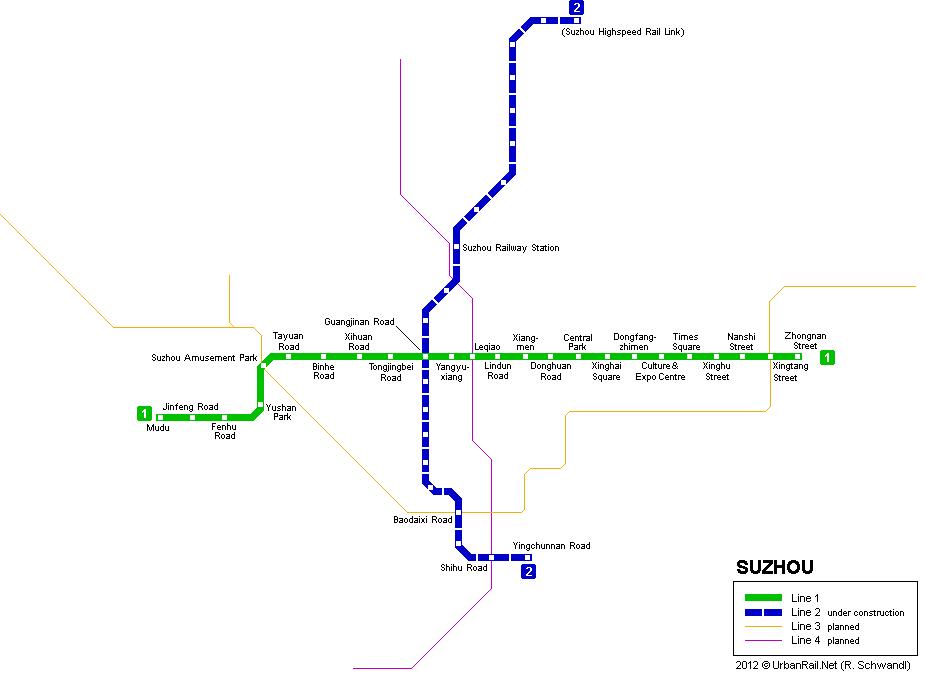 Схема метро Сучжоу (12,19 Кб)