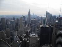 Нью-Йорк с высоты птичьего полета.