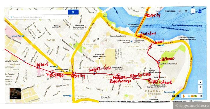 маршрут движения трамвая,
