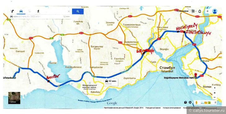зучить карту маршрутов