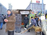 Киев. Новый год. Евромайдан.