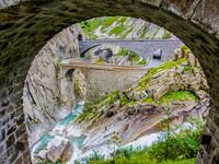 Чертов мост. Северный Сан Готтард. Швейцария.