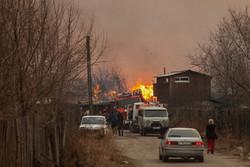Степной пожар уничтожил 20 турбаз в Хакасии