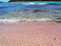Розовый песок острова Крит.
