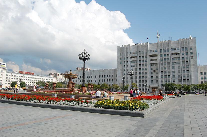 Хабаровск - один из крупнейших городов российского дальнего востока,административный