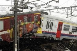 В Бельгии произошла крупная железнодорожная авария. Есть жертвы