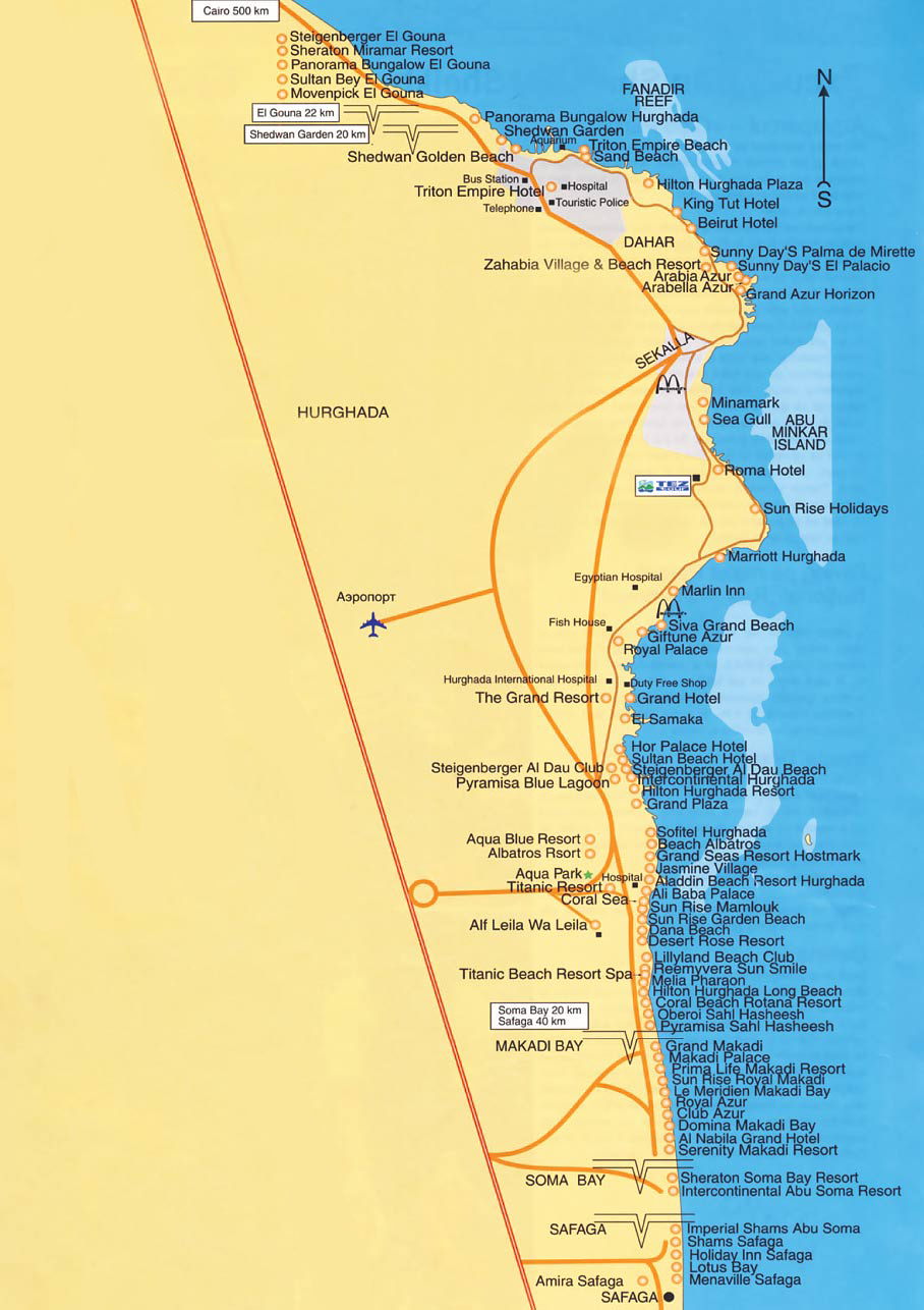 Карта отелей хургады 554 48 кб