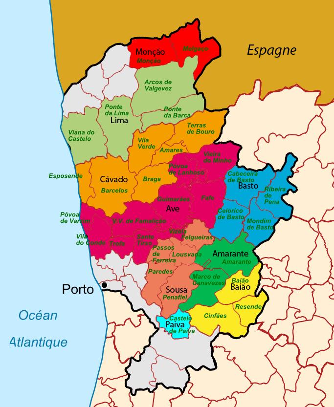 Карта винных регионов