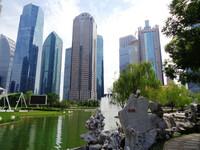 Шанхай - и его деловой центр.