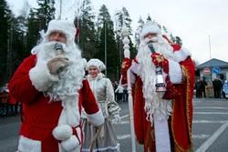 Йоулупукки и Дед Мороз встретились на границе России и Финляндии