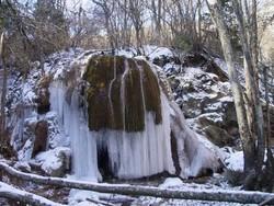 В Крыму обрушился водопад Серебряные струи