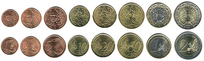 Монеты Евро в Франции