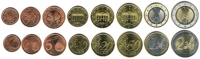 Монеты Евро в Германии