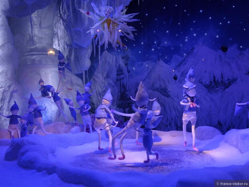 Зимняя сказка витрин парижских магазинов