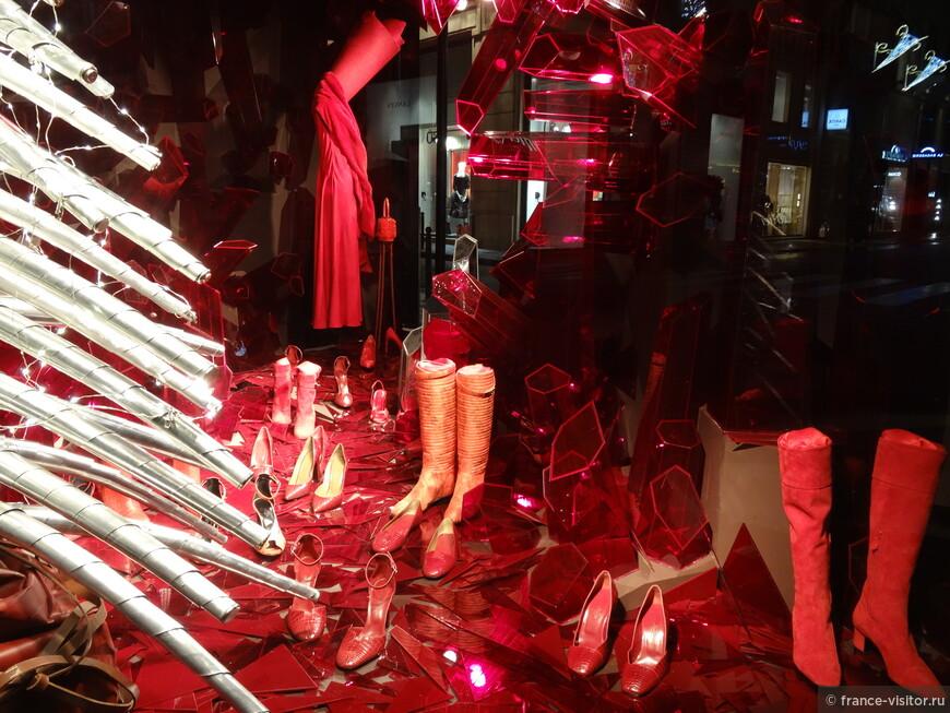 Виртина магазина Гермес в Париже