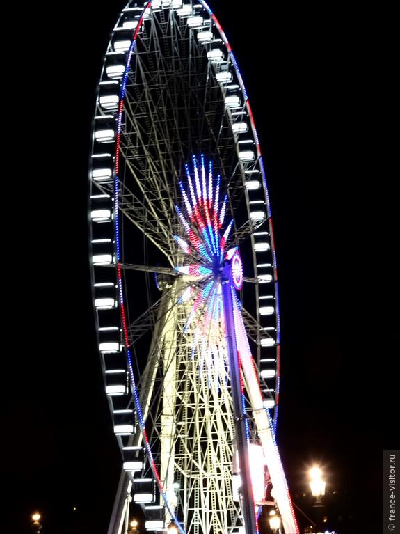 Большое колесо обозрения на площади Конкорд, Париж