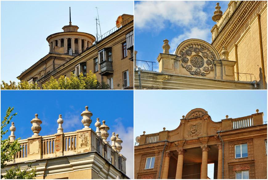 23. Сотни зданий в исторической части города украшены всеми возможными элементами сталинской архитектурной школы.