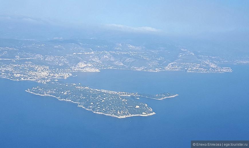 Полуостров Кап Ферра  - с борта самолета