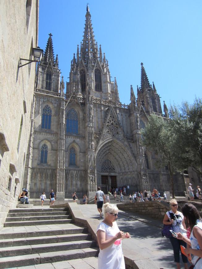 Кафедральный собор расположен в готическом квартале Барселоны, так называемом старом городе. Это главнейшее религиозное сооружение Барселоны. Кафедральный собор посвящен Св. Евлалии, юной девушке, жившей в IV в., которая была подвергнута пыткам и приняла мученическую смерть за христианскую веру.