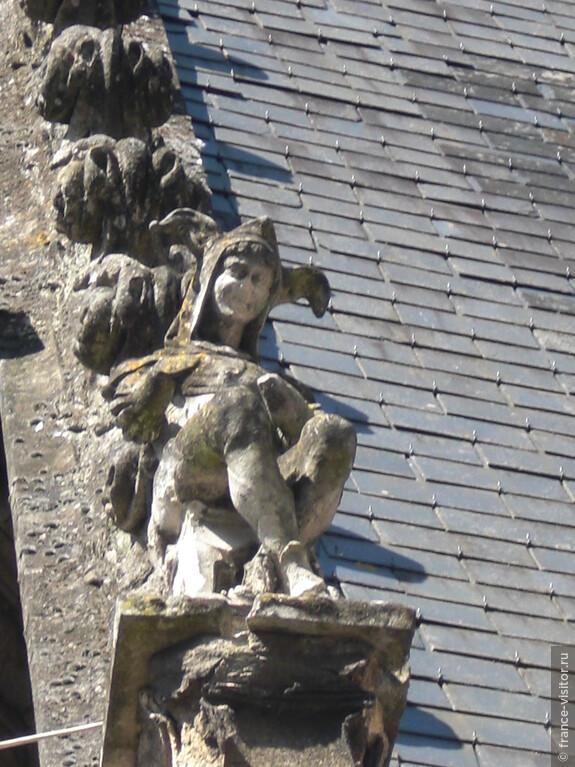 Украшения крыш средневековых городов Франции