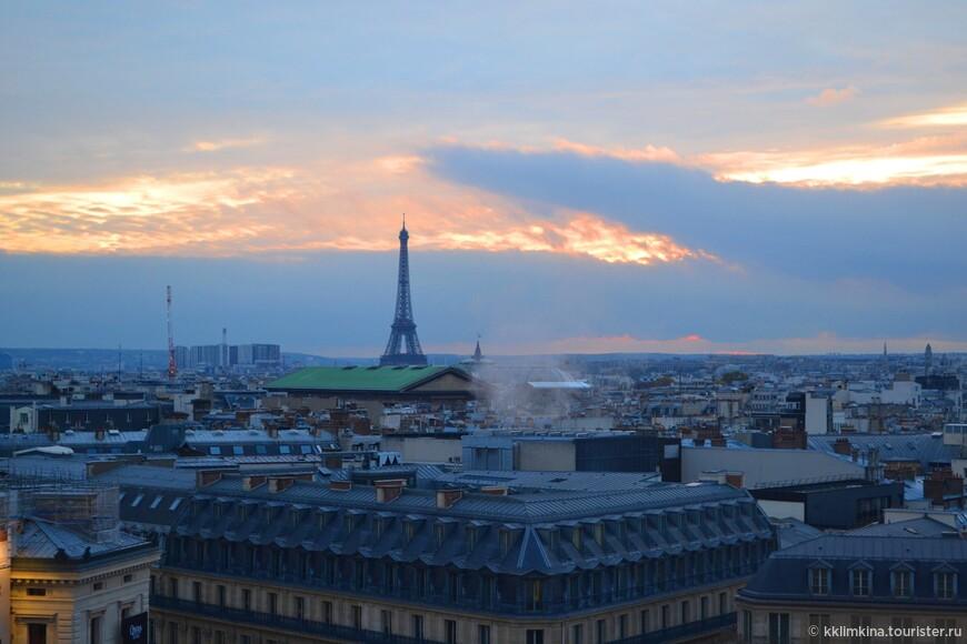 Лучший вид на город открывается сверху, когда весь Париж расстилается перед Вами как на ладони, когда ни деревья, ни люди, ни здания не загораживают потрясающие виды.