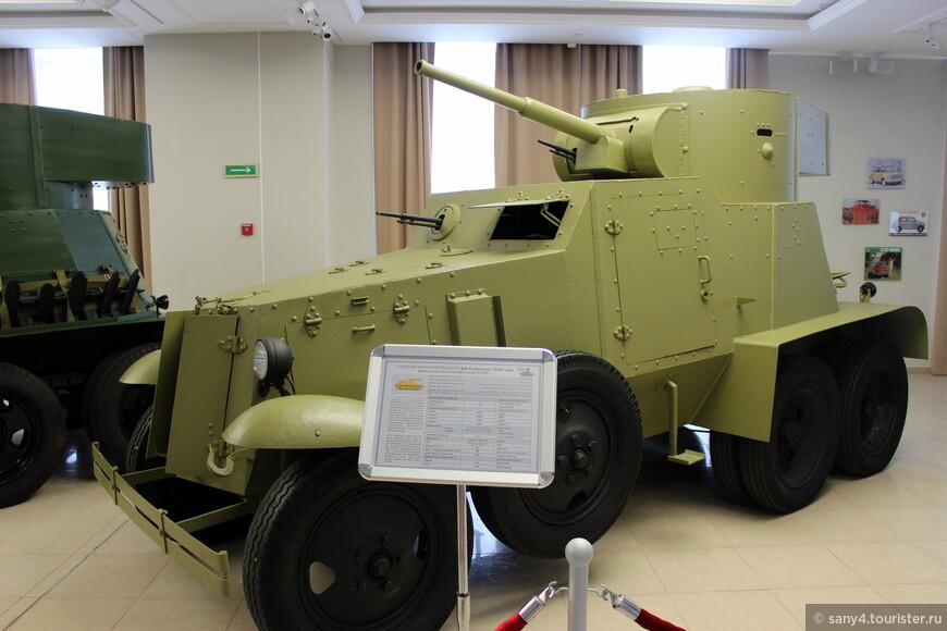 Бронеавтомобиль БА-6. Принимал участие в боях в Испании, на р.Халкин-гол, в начале Великой Отечественной.