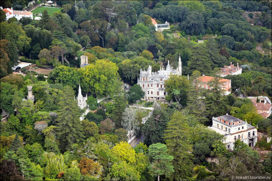 Вид на дворцово-парковый комплекс  Кинта да Регалейра.