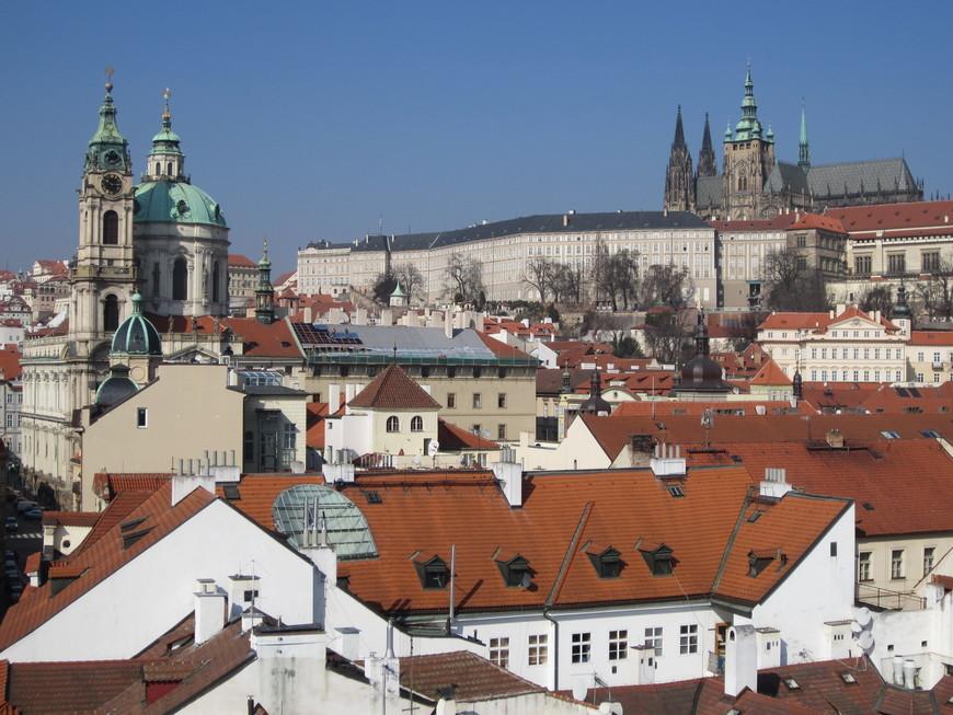 Красавица Прага особенно хороша в ясную погоду.