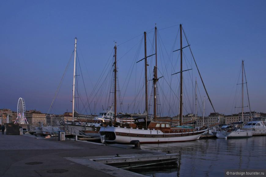Порт, заход солнца