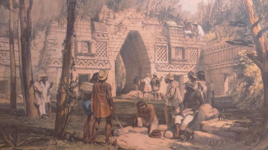 Зарисовки древних городов майя, Фредерик Казервуд