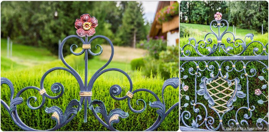 ещё в Горном Шварцвальде распространены вот такие художественной ковки изгороди
