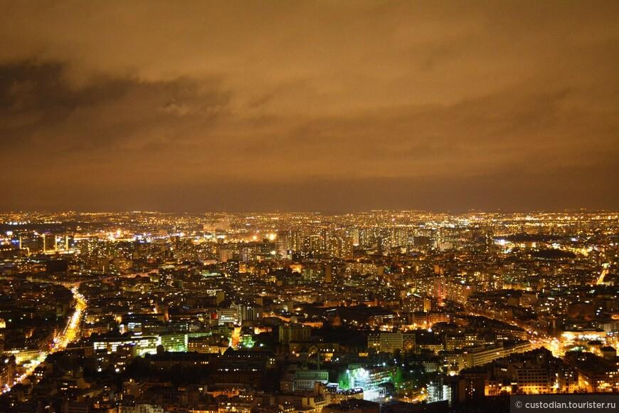 Вид с башни Монпарнас (вечер)