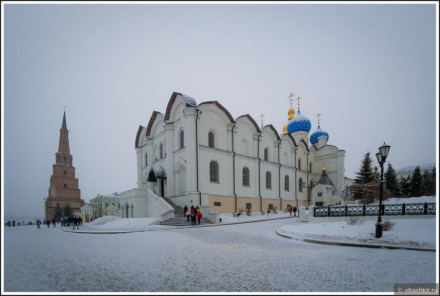 Башня Сююмбике и Благовещенский собор.