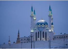 Мечеть Кул-Шариф в сумерках.
