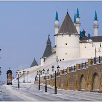 Вид на Кремль с ул. Баумана.