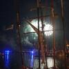Вечернее световое шоу в порту Бреста