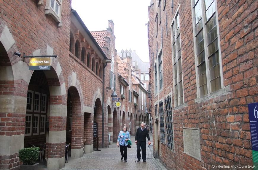 Вот такие они, средневековые улочки старого Бремена