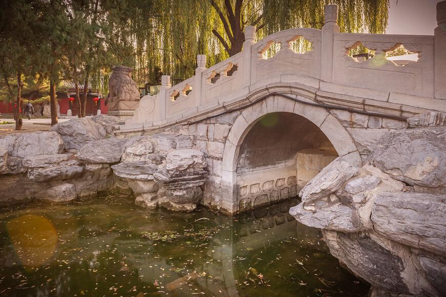 Очень популярное место парка у местных фотографов. Еле дождалась,пока мостик опустеет хоть минут на несколько.